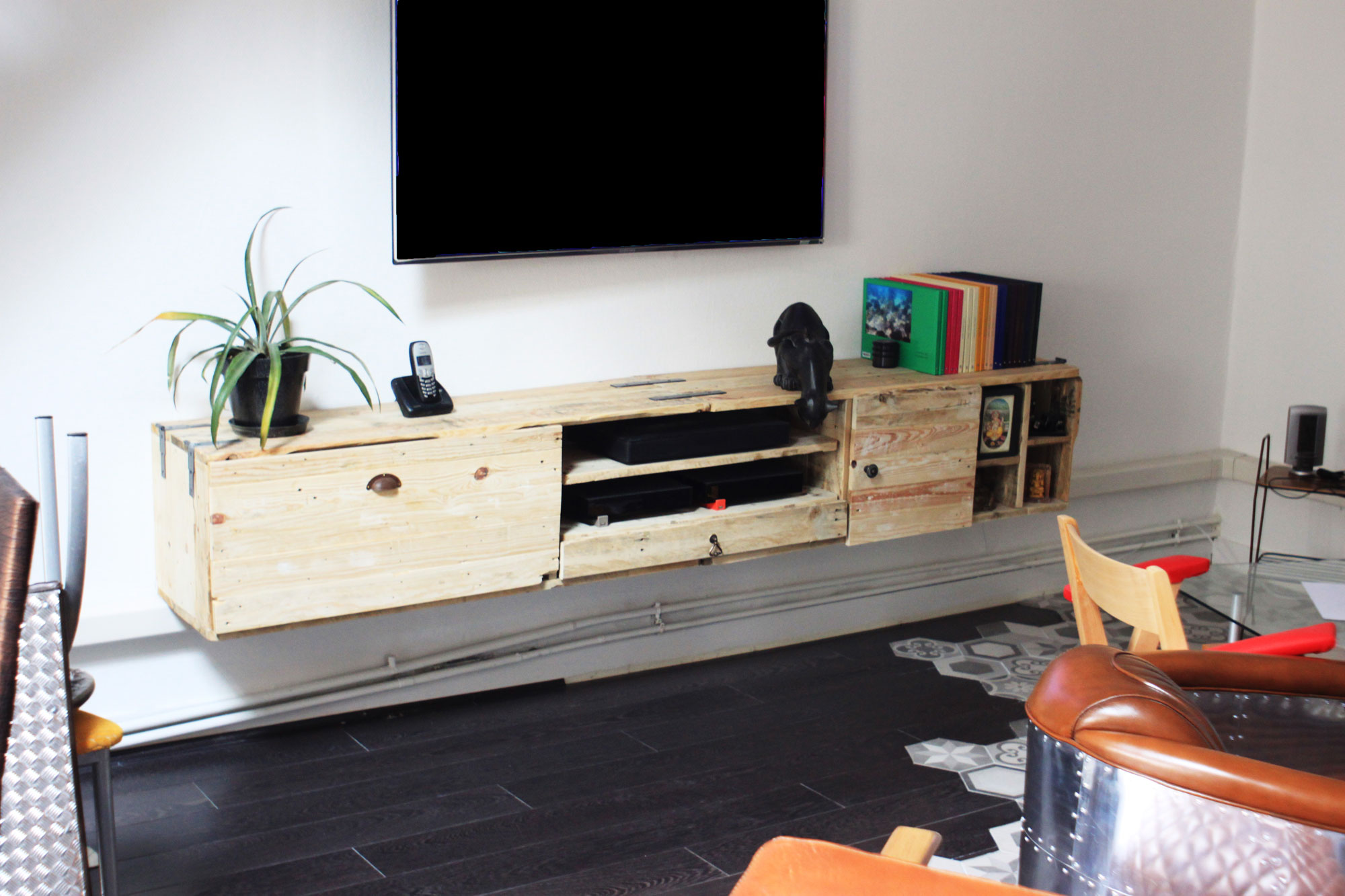 Meuble Tv En Palette Fashion Designs # Meuble Hifi En Bois De Palette
