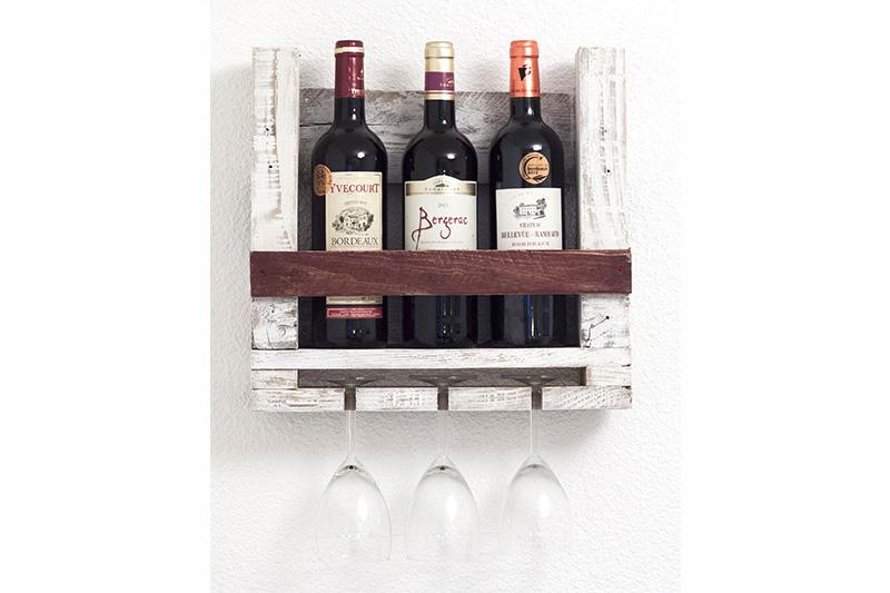 Etagères pour bouteilles de vin et verres | La Vie du Bois - Bordeaux